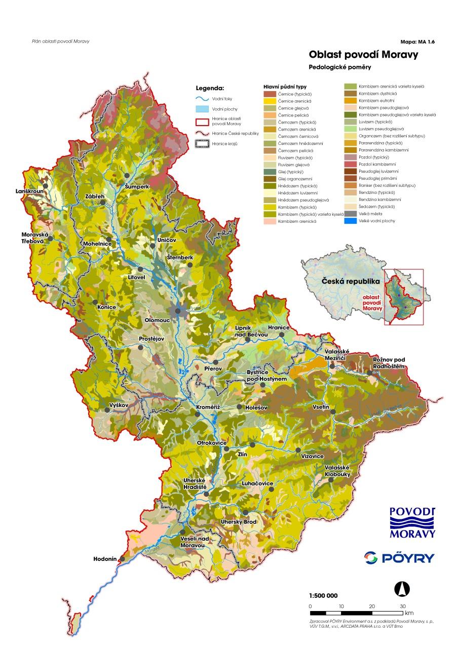 Plan Oblasti Povodi Moravy